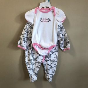 Baby Girl Footed Onesie and Bodysuit 6-9 months